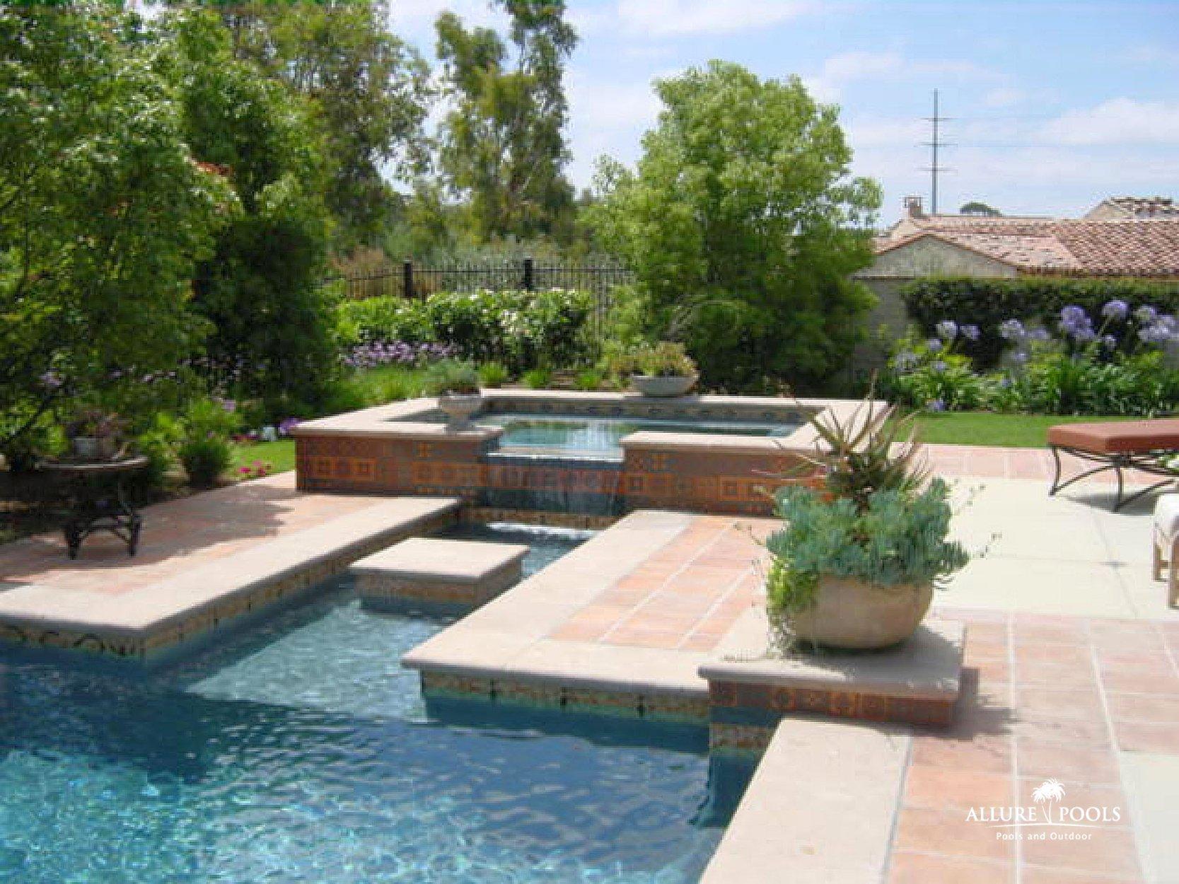Custom Designed Inground Spas Pool Builders Inground Pools Las