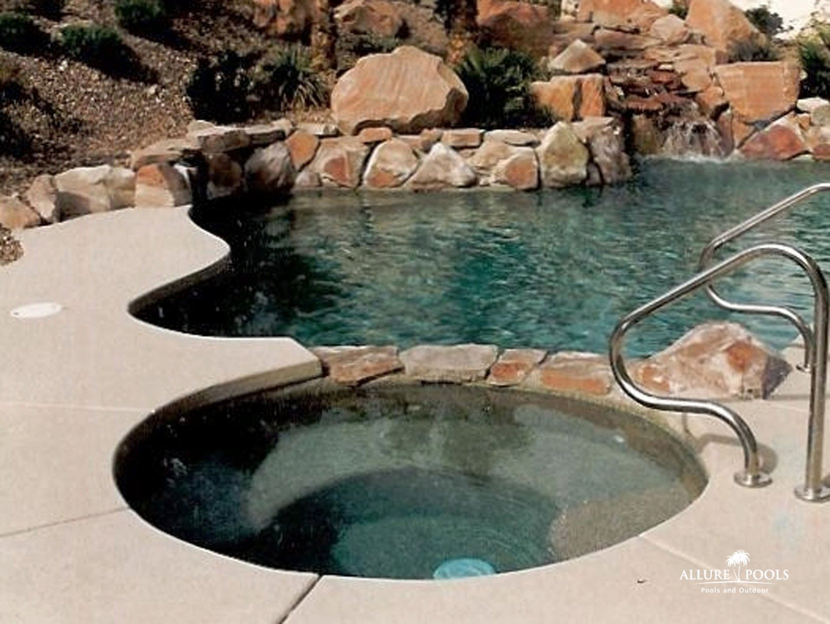 Image gallery inground pools and spas for Inground pool and spa